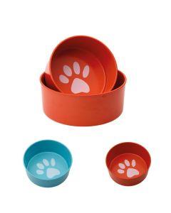 Mad- og vandskål i melamin til hund
