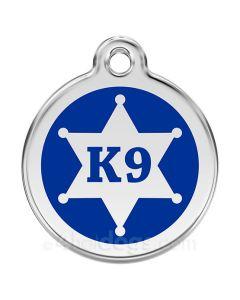 Hundetegn K9 stjerne Large