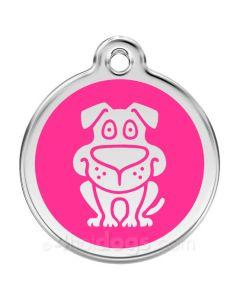 Hund large-Hot pink