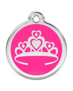 Prinsessekrone large-Hot pink