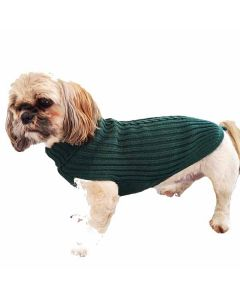 Grøn Hundesweater i merino uld