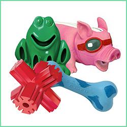 Gummi legetøj til hunde