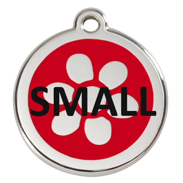 Hundetegn str. small - dia. 2 cm