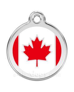 Hundetegn Canadiske Flag medium