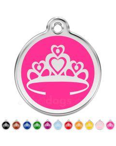 Hundetegn Prinsessekrone large 11 forskellige farver