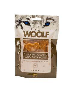Hundegodbid Woolf kylling/græskar ben, 100g