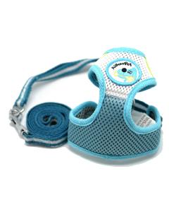 Soft Puppy sele med line - Blå